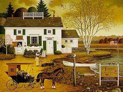 Charles Wysocki Birch Point Cove - Artist & Anglers HavenS