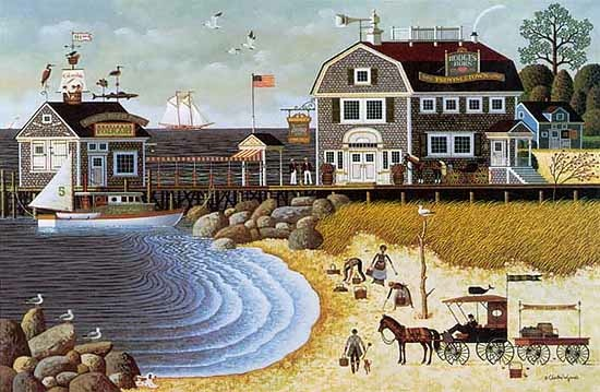 Charles Wysocki Clammers At Hodges Horn